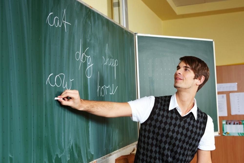 junger Grundschullehrer