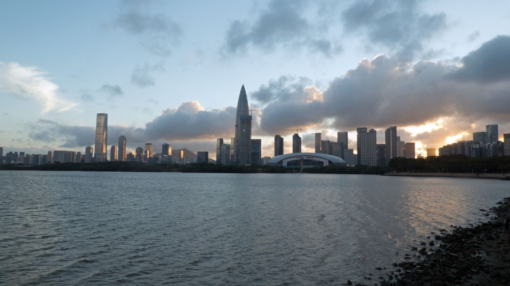 8. Sunset Behind Houhai's skyscrapers 2